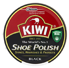 Kiwi Shoe,Boot Polish Shine Protector Leather 2x100ml Tin in Black Colour