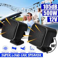 Pair 12V 500W Car Audio Music Stereo Super Sound High Tweeter Speaker 91DB USA