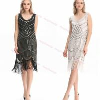 20s Dress Charleston Great Gatsby dress Costume Sequin Party Fancy Dress up S-XL