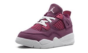 Jordan 4 Retro TD Valentine's Day True Berry/Rush Pink-White BQ7672 661 Toddler