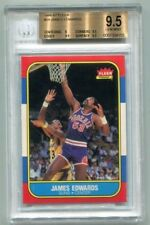 James Edwards 1986 Fleer #29 BGS 9.5 Gem Mint