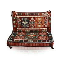 2 pcs Turkish Ottoman Cedar Couch Pillow set Cushion Sofa Sheet Divan Cover ONLY