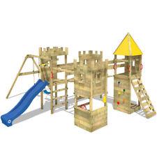 WICKEY Smart Excalibur Spielturm Ritterburg Stelzenhaus Schloss Schaukel Rutsche