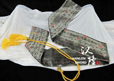 Classic Japanese Samurai Swords Katana Chinese Caligraphy Gray Silk Sword Bag