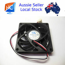 Case Fan 12V 70mm X 70mm X 15mm Brushless PC Fan Cooler 3 Pin GDT- Aussie Seller