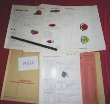 N°10252 / catalogue des accessoires SCINTEX   aout 1964 : clignotants, feux