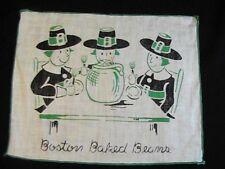 "Old Vintage Handkerchief Boston Baked Beans 7.5"" x 6"""