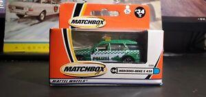 Matchbox #34 Mercedes-Benz E 420 Polizei Police Green International Box 2001 *K9