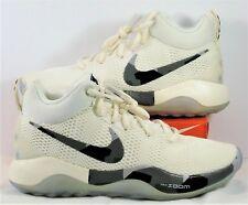 82d54c03a3be Nike Zoom Rev Girls EYBL Sail   Grey Basketball Shoe Sz 12.5 NEW AA3419 100  RARE