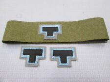 WW2  AIF 2/23rd battalion Tobruk colour patchs & plain wool puggarre set