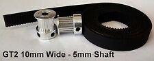 3D Printer GT2 10mm Wide Timing Belt and Pulleys - 20 Teeth 5mm Shaft - Reprap