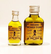 Gold Label Organic Beard Oil, Leave in Conditioner Tonic by Revered Beard. 20ml