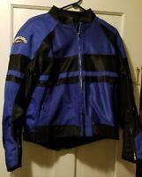 Teknic Armored  Women's Motorcycle Jacket Blue Black US 8 Euro 36