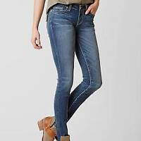 BKE Buckle Stella Skinny Jeans Stetch Distressed Denim Womens 25 (25 X 27)