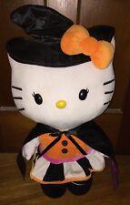 Hello Kitty Halloween Witch Cat Gemmy Sanrio Plush Door Greeter Stuffed Animal