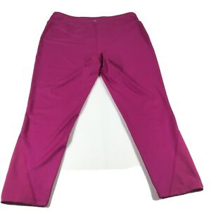 Tek Gear Capri  Women's Leggings Drytek Yoga Athletic w/ Pockets Pink 1X