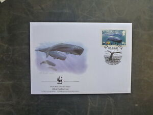 WWF 2002 St HELENA SPERM WHALES 10p RATE FDC FIRST DAY COVER