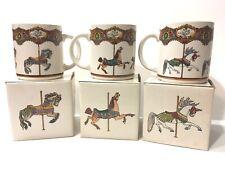 3 Willitts 1986 Carousel Horse Coffee Mugs