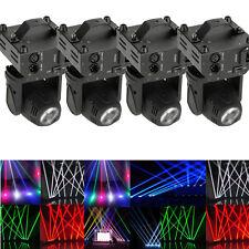 4PCS 60W RGBW LED Beam Moving Head Stage Lighting DMX512 DJ Disco Party Lights