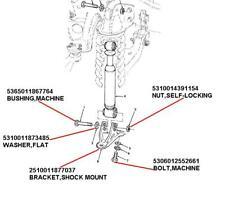 HMMWV HUMMER H1 LOWER SHOCK MOUNT