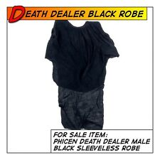Phicen Hot Death Dealer Black Sleeveless Robe for 1/6 12 in scale Figure Toys