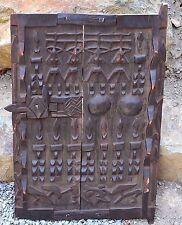Antique Dogon African Wood Granary House Door Window Shutter Sliding Lock - Mali
