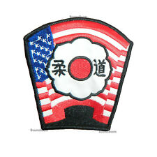 NEW Judo USA Flag Patch for Judo Gi Uniform Judo in USA Flag Martial Arts-4x4.5""