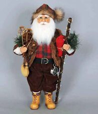 CHRISTMAS DECORATIONS - CABIN FEVER SANTA - LAKE - LODGE - WOODLAND - MOUNTAINS