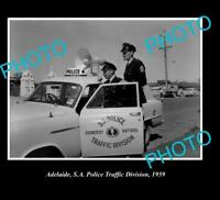 OLD 8x6 HISTORIC PHOTO OF ADELAIDE SA SA TRAFFIC POLICE 1959
