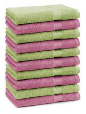 Betz lot de 10 serviettes d'invité Premium: vert pomme & vieux rose, 30 x 50 cm