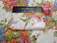 NEW Rare RALPH LAUREN Melissa Full Flat Sheet Roses Go W Beachhouse Southampton