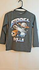 Arizona boys size 8 gray husky astronomical skill long Sleeve sports balls shirt