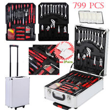 New 799pcs Hand Tool Kit Mechanics Kit Metric Ratchet Wrench Set Trolley Toolbox