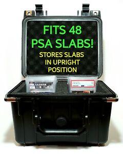 Graded Sports Card Case Slab Storage | Weatherproof | Pick Apart Foam | 48 Slabs