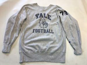 Vintage 90s Yale University Champion Reverse Weave Gray Sweatshirt Football XL
