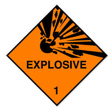 EXPLOSIVE WARNING- self adhesive business stickers health & safety