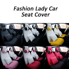 Universal Full Surround PU Leather Car Seat Cover Set Lady Multi-color Cushion