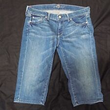 7 For All Mankind Jeans 29 Women's Straight Capri Cropped Size 32X16