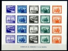 SPAIN 1935. MNH** ARMY AND NAVY STAMP-SHEET. IMPERFORATED.