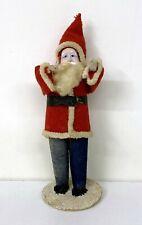 Vintage Santa Claus Japan Figurine - Cloth Felt Paper Mache Composition Face
