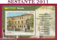 TESSERA FILATELICA FRANCOBOLLO POLO LICEALE DANTE ALIGHIERI GORIZIA 2008 M49