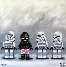 "Star Wars art Lego limited poster  canvas print  24"" signed Andy Baker COA"