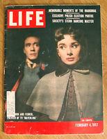 1957 Life Magazine  Audrey Hepburn and Mel Ferrer TV Production of Mayerling