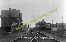 Brownhills Watling Street Railway Station Photo. Aldridge - Norton Lakeside. (1)