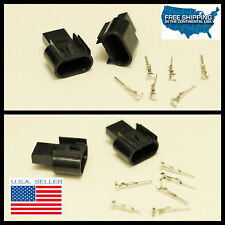 NEW H13 9008 Male connectors HID Plug Socket adapter 2X Dodge Nitro DURANGO RAM