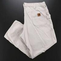 CARHARTT  Beige Woven Regular Straight Pants Mens W38 L28