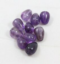 Natural AMETHYST briolette bead / strand 8mm(w) x 10mm(l) - 10 beads