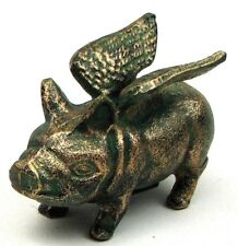 Cast Iron Flying Pig Bank Collectible Piggy Bank