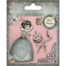 New clear Rubber Stamps Santoro Mirabelle Character CURIOSITY GIRL FLOWER SET