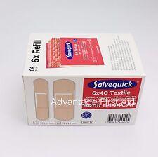 cederroth salvequick TISSU/TEXTILE plasters. (6 x 40) Piller sécurité